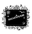 Halloween frame for your design vector image vector image