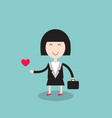 happy businesswoman loves her job vector image