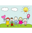 happy kids vector image vector image