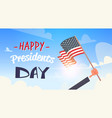 happy presidents day concept usa greeting card vector image