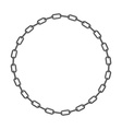 Iron chain Circle frame of rings of chain vector image