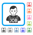 jobless framed smiling icon vector image vector image