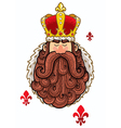 King Portrait vector image