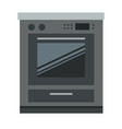 kitchen electric stove flat isolated vector image vector image