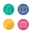 Laboratory equipment icons vector image vector image