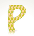 letter p design with pattern vector image vector image