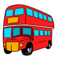 london double decker red bus icon cartoon vector image vector image