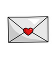 love envelope icon romantic decoration post vector image vector image