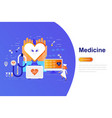 medicine and healthcare modern flat concept vector image