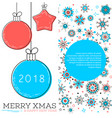 merry xmas and happy new year card vector image vector image