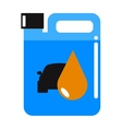 Metal canister of gasoline cartoon flat