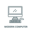 modern computer line icon linear concept vector image vector image