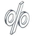percent icon discount or deposit symbol vector image