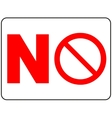 Prohibition Sign No isolated vector image
