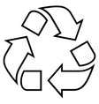Recycle Thin Line Icon vector image