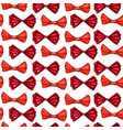 red bows hand drawn seamless pattern vector image