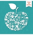 Science areas apple vector image vector image