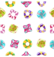 Seamless background with colorful candies on a vector image vector image