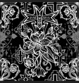 seamless pattern with fantasy crosses 2 vector image vector image
