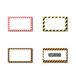 set frames with slanted black and yellow strips vector image vector image