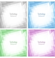 Set of Light Abstract Colorful Technology Frames vector image