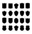 set shields vector image vector image