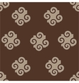 Spiral abstract beige seamless pattern vector image vector image