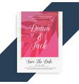 stylish wedding invitation card design vector image vector image