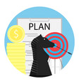tactics financial planning vector image vector image