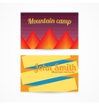 Template card with mountains vector image vector image