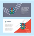 traffic signal abstract corporate business banner vector image
