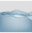 Transparent water wave vector image