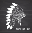 Tribal legend in Indian style Native american vector image