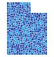 utah state map mosaic of pixels vector image
