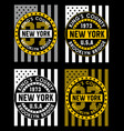 vintage new york brooklyn vector image vector image