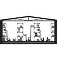 warehouse machinery equipment vector image