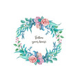 watercolor vintage rose flower wedding card
