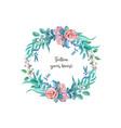 Watercolor vintage rose flower wedding card