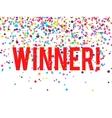 Winner Confetti vector image vector image