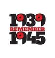 world war ii commemorative symbol with dates vector image