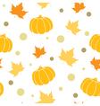 Seamless pattern with orange pumpkin vector image