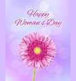 pink gerbera flower 8 march background vector image