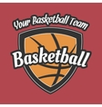 Basketball Team Label with Ball vector image