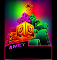 Electronic music party poster vector image