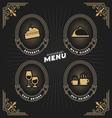 Luxury vintage frame and label for restaurant menu vector image