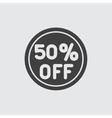 50 sale icon vector image vector image