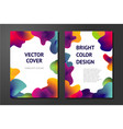 abstract posters with liquid paint elements vector image vector image