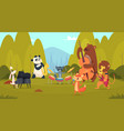 animals musicians in forest music band playing on vector image vector image