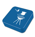 barbecue grill with chicken icon vector image vector image