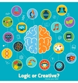Brain science concept vector image vector image